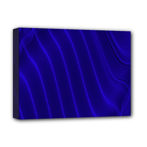 Sparkly Design Blue Wave Abstract Deluxe Canvas 16  x 12