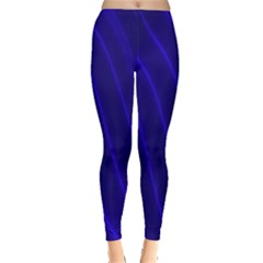 Sparkly Design Blue Wave Abstract Leggings