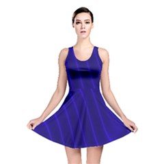 Sparkly Design Blue Wave Abstract Reversible Skater Dress