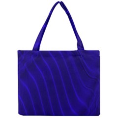 Sparkly Design Blue Wave Abstract Mini Tote Bag