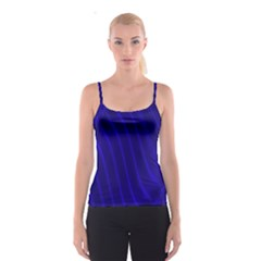Sparkly Design Blue Wave Abstract Spaghetti Strap Top
