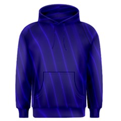 Sparkly Design Blue Wave Abstract Men s Pullover Hoodie