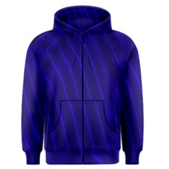 Sparkly Design Blue Wave Abstract Men s Zipper Hoodie