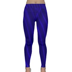 Sparkly Design Blue Wave Abstract Classic Yoga Leggings