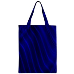 Sparkly Design Blue Wave Abstract Zipper Classic Tote Bag