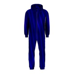 Sparkly Design Blue Wave Abstract Hooded Jumpsuit (Kids)
