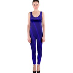 Sparkly Design Blue Wave Abstract OnePiece Catsuit