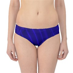 Sparkly Design Blue Wave Abstract Hipster Bikini Bottoms