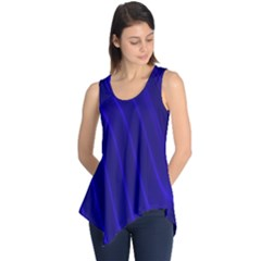 Sparkly Design Blue Wave Abstract Sleeveless Tunic