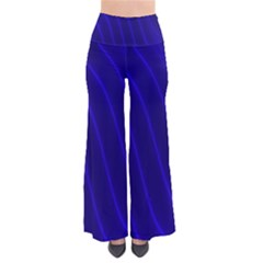 Sparkly Design Blue Wave Abstract Pants
