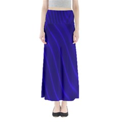 Sparkly Design Blue Wave Abstract Maxi Skirts
