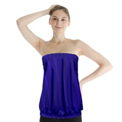Sparkly Design Blue Wave Abstract Strapless Top