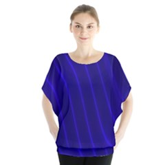 Sparkly Design Blue Wave Abstract Blouse
