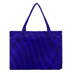Sparkly Design Blue Wave Abstract Medium Tote Bag
