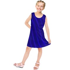Sparkly Design Blue Wave Abstract Kids  Tunic Dress