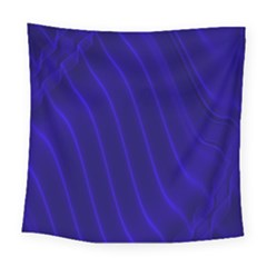 Sparkly Design Blue Wave Abstract Square Tapestry (large)
