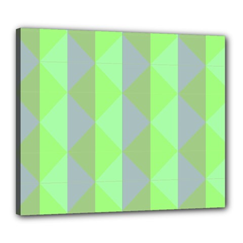 Squares Triangel Green Yellow Blue Canvas 24  x 20