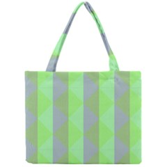 Squares Triangel Green Yellow Blue Mini Tote Bag