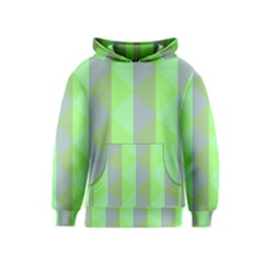 Squares Triangel Green Yellow Blue Kids  Pullover Hoodie