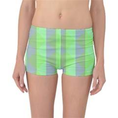 Squares Triangel Green Yellow Blue Reversible Bikini Bottoms