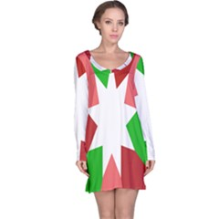 Star Flag Color Long Sleeve Nightdress