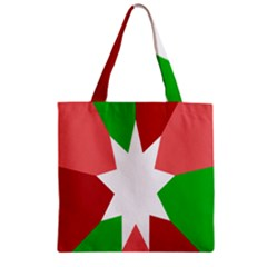 Star Flag Color Zipper Grocery Tote Bag