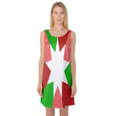 Star Flag Color Sleeveless Satin Nightdress