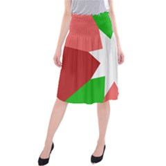 Star Flag Color Midi Beach Skirt