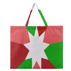 Star Flag Color Zipper Large Tote Bag