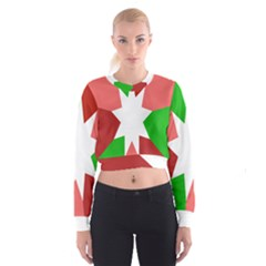 Star Flag Color Women s Cropped Sweatshirt