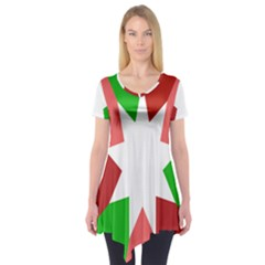 Star Flag Color Short Sleeve Tunic
