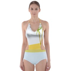Summer Sea Beach Cut-Out One Piece Swimsuit