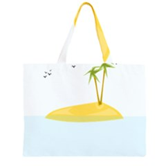Summer Sea Beach Large Tote Bag