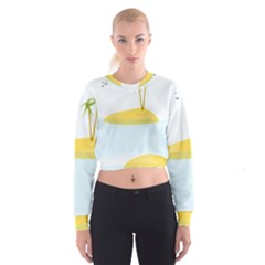 Summer Sea Beach Women s Cropped Sweatshirt