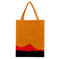 Sunset Orange Simple Minimalis Orange Montain Classic Tote Bag