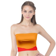 Sunset Orange Simple Minimalis Orange Montain Tube Top