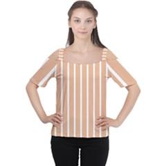 Symmetric Grid Foundation Women s Cutout Shoulder Tee