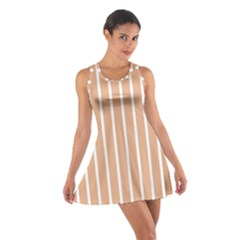 Symmetric Grid Foundation Cotton Racerback Dress