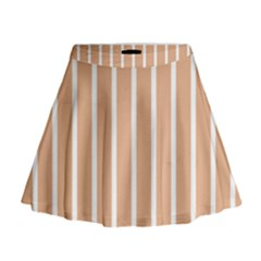 Symmetric Grid Foundation Mini Flare Skirt