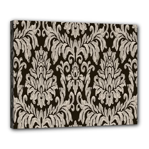 Wild Textures Damask Wall Cover Canvas 20  x 16