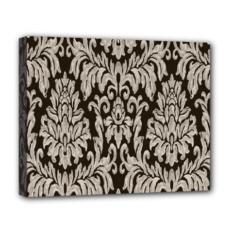 Wild Textures Damask Wall Cover Deluxe Canvas 20  x 16