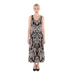 Wild Textures Damask Wall Cover Sleeveless Maxi Dress