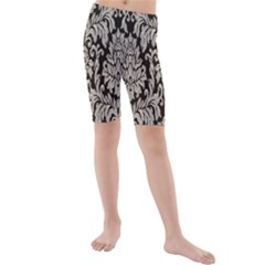 Wild Textures Damask Wall Cover Kids  Mid Length Swim Shorts
