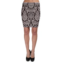 Wild Textures Damask Wall Cover Bodycon Skirt