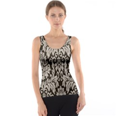 Wild Textures Damask Wall Cover Tank Top