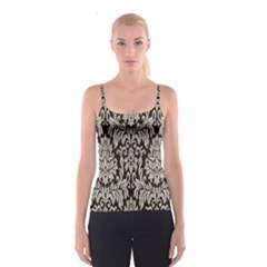Wild Textures Damask Wall Cover Spaghetti Strap Top