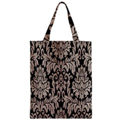 Wild Textures Damask Wall Cover Zipper Classic Tote Bag