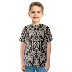 Wild Textures Damask Wall Cover Kids  Sport Mesh Tee