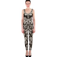 Wild Textures Damask Wall Cover OnePiece Catsuit