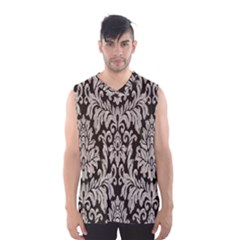 Wild Textures Damask Wall Cover Men s Basketball Tank Top